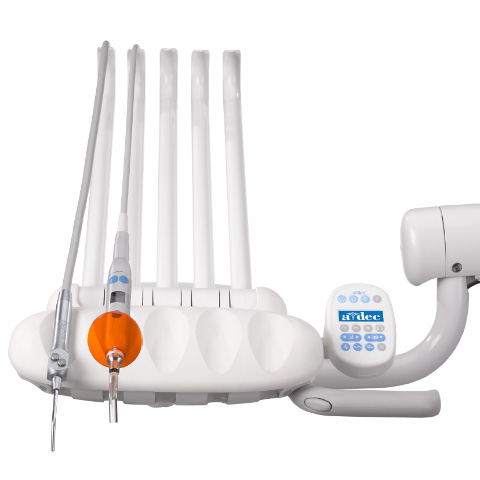 A-dec 300 dental delivery system with curing light