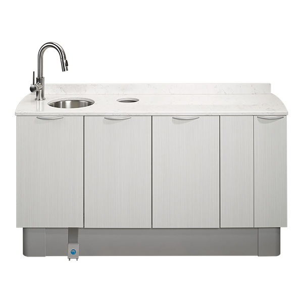 A-dec Inspire dental cabinets side console with sink