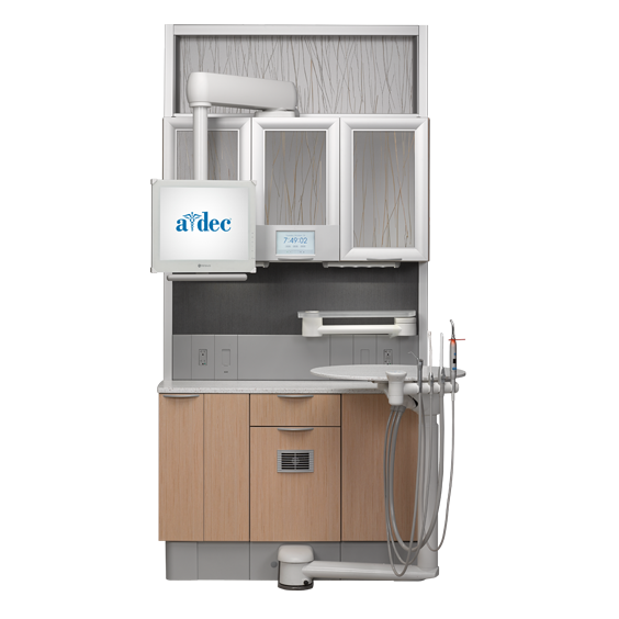 A-dec Inspire dental cabinets treatment console with infills