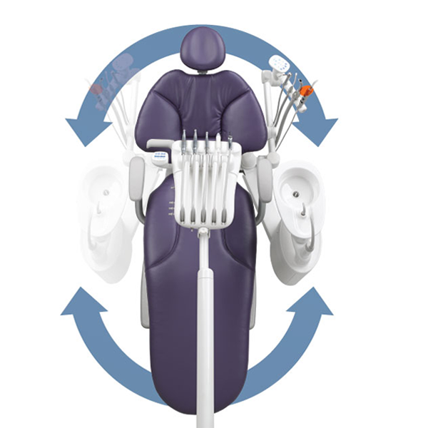 A-dec 400 dental chair versatility