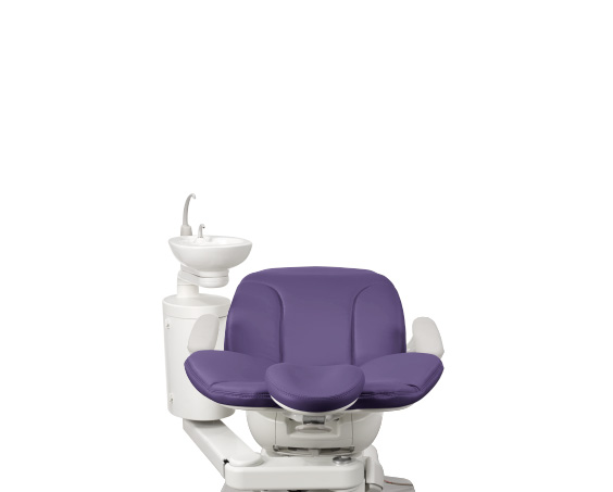 A-dec dental chair with cuspidor
