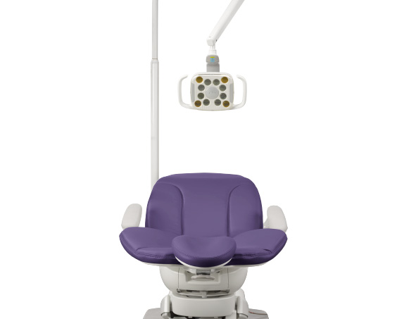 A-dec 400 dental chair with dental light