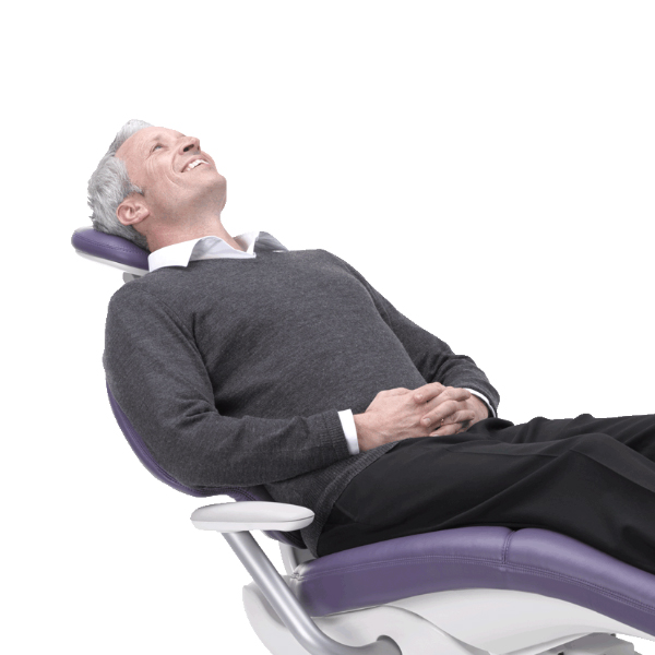 Patient in A-dec 400 dental chair