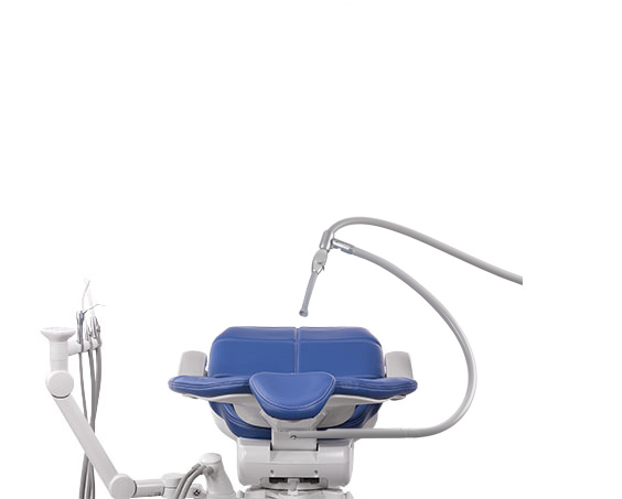 A-dec 500 Dental Chair Assistant Instrumentation with Third-Hand HVE Holder