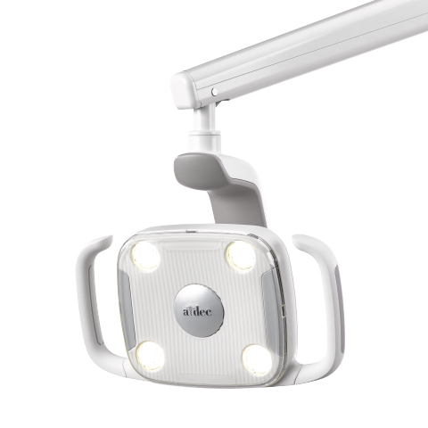 A-dec 300 LED Dental Light with lights on