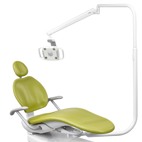A-dec 300 LED dental light mounted on A-dec 300 dental chair