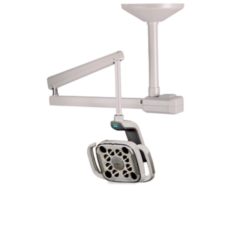 A-dec 500 LED dental light mounted to the ceiling