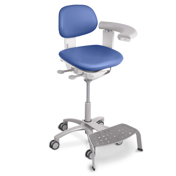 A-dec 500 dental assistant stool with foot rest
