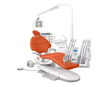 A-dec 500 dental equipment package with Campfire upholstery thumbnail
