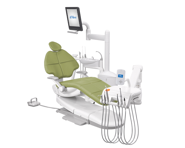 A-dec 500 radius dental equipment package with Parrot upholstery