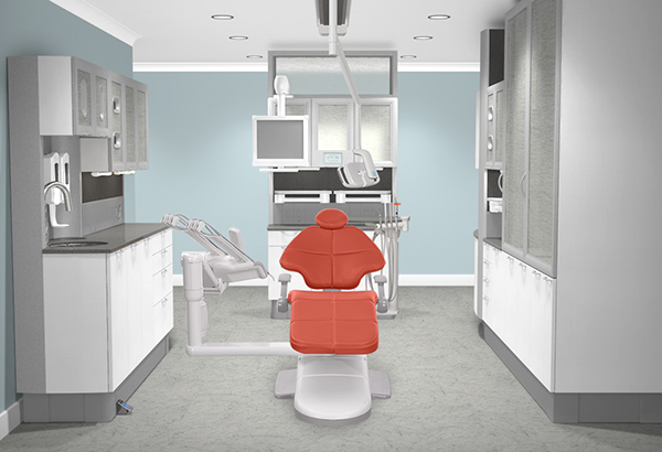 Modern and bright dental operatory
